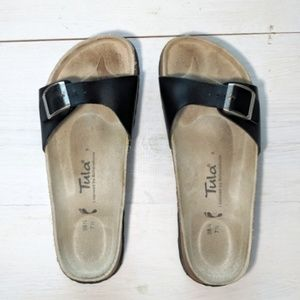 Tula by Birkenstock black leather sandals. 7.5